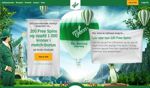 Free spins og bonus hos MrGreen