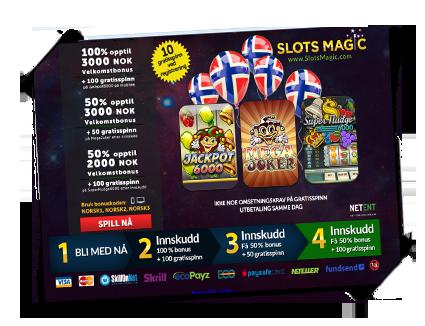 SlotsMagic bonus Norske-spilleautomater