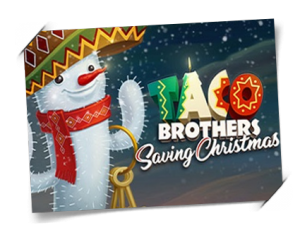 Taco Brothers Saving Christmas spilleautomat slotmaskin Elk Studios Guts