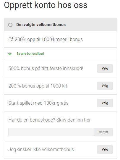 casino bonuskode